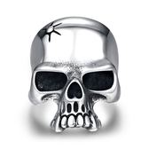 鈦鋼戒指 骷髏頭-另類個性獨特龐克生日情人節禮物男飾品73le184【時尚巴黎】