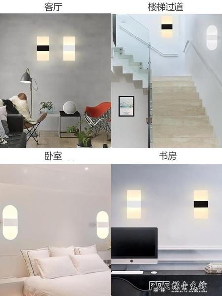 壁燈客廳背景LED臥室走廊過道背景牆樓梯間燈簡約現代北歐床頭燈ATF 探索先鋒