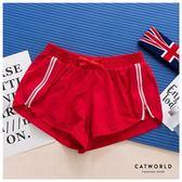Catworld 側拉鍊防走光雙層運動短褲【14001140】‧S-XL