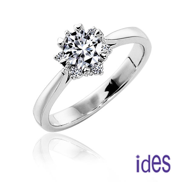 ides愛蒂思 精選50分E/VVS1完美車工鑽石戒指/結婚鑽戒