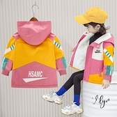 中大童韓版外套 加絨潮流夾克兒童棉服衝鋒衣 女孩棉襖保暖百搭女童外套 秋冬洋氣羽絨外套