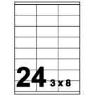 Unistar 裕德3合1電腦標籤紙 (7)US4453 24格 (100張/盒)