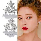 925純銀針  韓國優雅氣質 三朵花鋯鑽 耳環-維多利亞190119