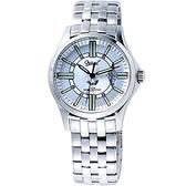 Ogival 愛其華 爵士藍調夜鷹系列腕錶(銀) OA-3694MS