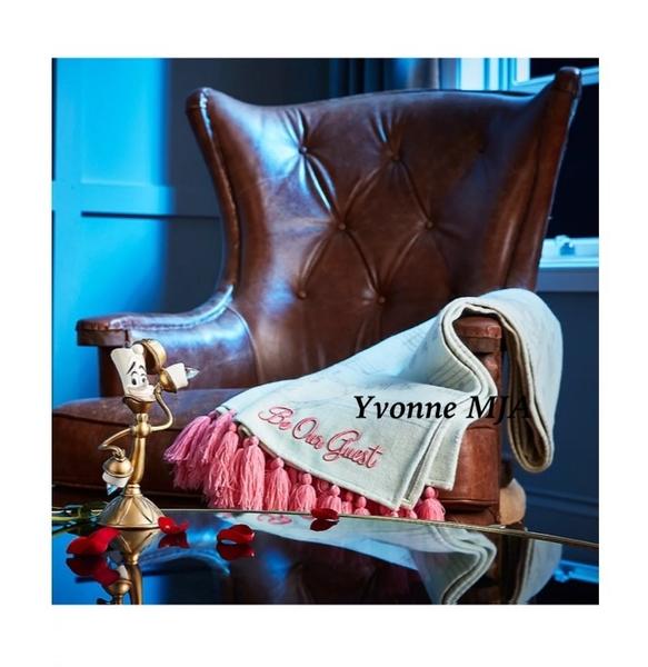 *Yvonne MJA* 美國迪士尼 Disney 美女與野獸 茶壺媽媽 圍巾