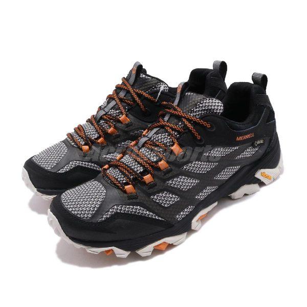 Merrell 戶外鞋 Moab FST 2 GTX 黑 橘 Gore-Tex 防水 透氣 越野 運動鞋 男鞋【PUMP306】 ML35759
