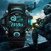 手錶 青少年運動手錶男孩初中高中學生休閒防水潮流時尚韓版炫酷電子錶