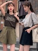 棉麻短褲女 2020新款夏高腰外穿寬鬆運動休閒顯瘦五分闊腿 a字韓版