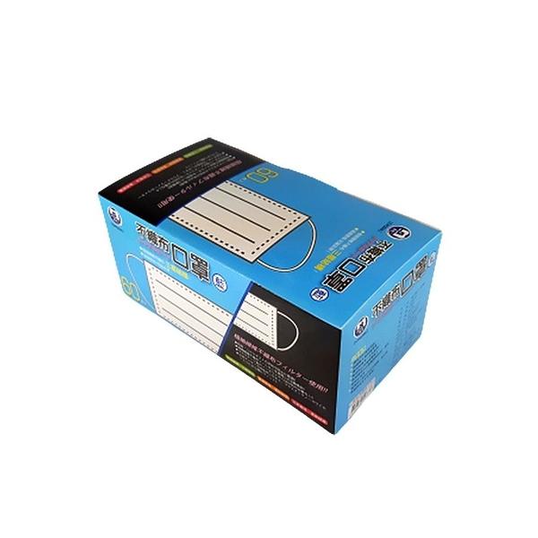 陸制!!不織布防慶一盒60入口罩藍色:  非醫療口罩