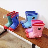 85折兒童雨鞋防滑男童女童日系寶寶雨靴中筒厚底99購物節
