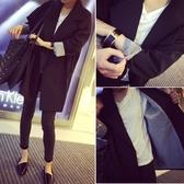 春秋季新款韓版時尚氣質百搭雙排扣中長款長袖休閒小西裝外套女潮