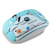 新貴MS-201OR卡通無線滑鼠女生可愛臺式筆記本帶靜音迷你萌可省電創意小巧游戲辦