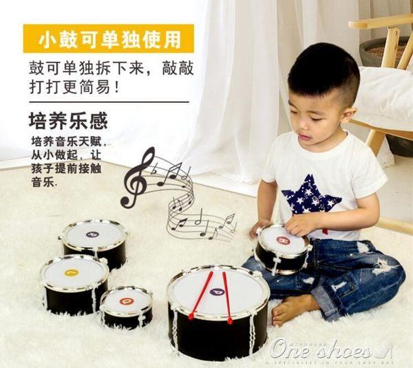 兒童架子鼓初學者爵士鼓打擊樂器男孩寶寶1-3-6-10歲益智音樂玩具  one shoes YXS
