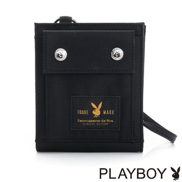 PLAYBOY- 短夾 都會輕旅系列-個性黑