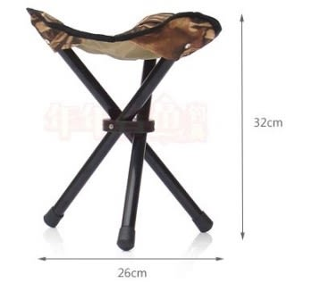 [協貿國際]  便攜式簡易三腳釣魚凳釣椅