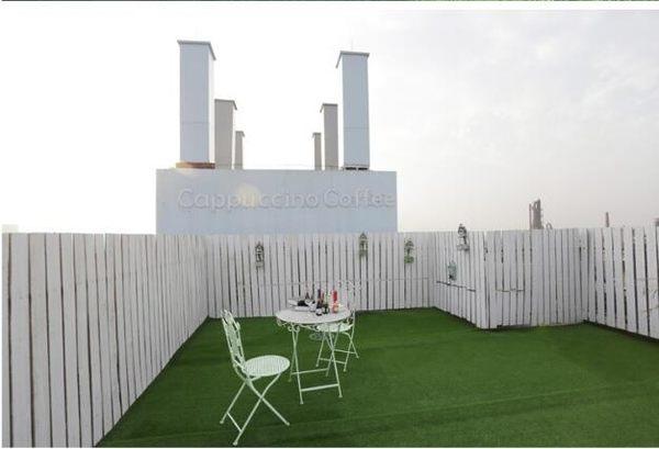 人造草坪人工假草皮塑料綠色地毯墊子陽台戶外仿真綠植牆裝飾室內  IGO