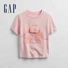 Gap男幼童 互動趣味印花圓領短袖T恤 673450-粉色