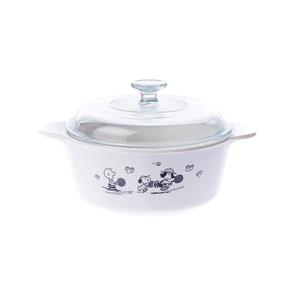 史努比 Snoopy圓形康寧鍋2.25L(黑白限量款)
