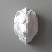 正版匠紙_DIY材料包_手作_3D紙模型_禮物_王者獅子壁飾