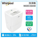 【滿1件折扣】Whirlpool 惠而浦 WDEE30AW 16公升 高效能除溼機