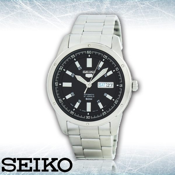 CASIO 手錶專賣店 SEIKO 精工 SNKN13J1 男錶 機械錶 星期 日期顯示 50米防水 礦物水晶鏡面