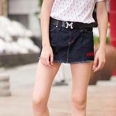 ★韓美姬★中大尺碼~帥氣牛仔短褲裙(XL~5XL)