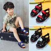 男童涼鞋 真皮寶寶鞋中大童男孩沙灘鞋