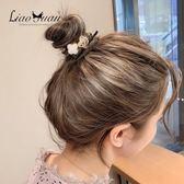 幸運四葉草~ig珍珠頭繩女可愛髮圈韓國簡約韓版網紅皮筋髮繩頭飾