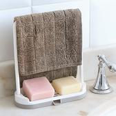 抹布毛巾收納瀝水架 廚房 水槽檯面 清潔 抹布架 塑料 瀝水 抹布 海綿擦 【P235】MY COLOR