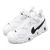 Nike 休閒鞋 Air Barrage Low 白 黑 男鞋 復古籃球鞋 大勾勾 復刻 運動鞋 【ACS】 CW3130-100