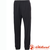 Wildland 荒野 0A61659-54黑 中性雙色透氣抗UV縮口褲 吸濕排汗/輕薄透氣/運動褲/居家休閒褲
