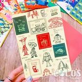 正版 迪士尼 玩具總動員 巴斯胡迪三眼怪 聖誕節卡片 耶誕卡片 大卡片 附信封 H款 COCOS XX001