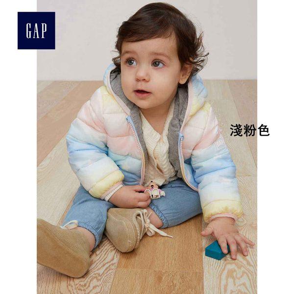 Gap女嬰兒 輕盈保暖漸變色棉服夾克 348780-淺粉色