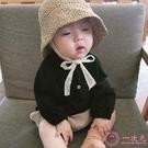 嬰兒帽 ins爆款夏款兒童草帽韓國寶寶遮陽帽防曬帽沙灘蕾絲漁夫帽子
