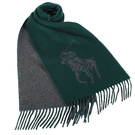 POLO RALPH LAUREN經典馬球大圖紋羊毛圍巾(綠色)780913-3
