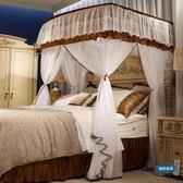 新年85折購 蚊帳U型蚊帳1.8m床釣魚竿伸縮支架雙人1.5米家用加密加厚公主落地宮廷wy