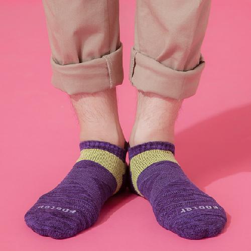 Footer 繽紛花紗輕壓力足弓船短襪(紫24~27CM)T108L【合康連鎖藥局】