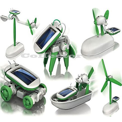 太陽能智慧6合1玩具組 動力 玩具套裝 腦力開發