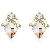 水晶耳環 925純銀耳針式-氣質鑲鑽生日情人節禮物女飾品4色73bd186【時尚巴黎】