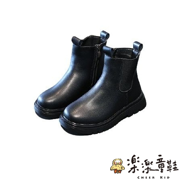 【樂樂童鞋】時尚鋪絨中長筒馬丁靴 S181 - 女童鞋 靴子 馬丁靴 長靴 短靴 中筒靴