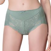 思薇爾-有氧森活系列M-XXL蕾絲中高腰三角內褲(光譜綠)