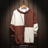 針織外套毛衣男加肥加大碼潮流胖子寬鬆韓版針織衫圓領套頭外套冬季