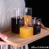 家用ins風情侶水杯一對韓版創意潮流玻璃日式 可愛簡約個性果汁杯艾美時尚衣櫥