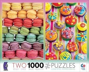 【KANGA GAMES】拼圖 二合一拼圖 - 馬卡龍 / 杯子蛋糕 2in1 Multi-Pack - Macaroon/Cupcake 2款各1000片