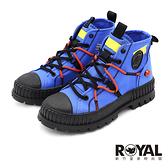 Palladium RE-CRAFT 海洋藍 黑底 有機再生帆布靴 男女款 NO.B2206【新竹皇家 77194-462】