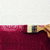 【進口牆紙】格蘭布朗(Graham & Brown)【52cm×10m/卷】 古典風 白色壓紋 英國壁紙 Buckingham 12011