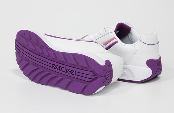 K-SWISS Enstev復古運動鞋-女-白/紫