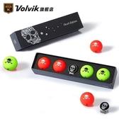 高爾夫球 VOLVIK韓國高爾夫球 三層特定款炫酷時尚骷髏款彩色高爾夫球 雙11