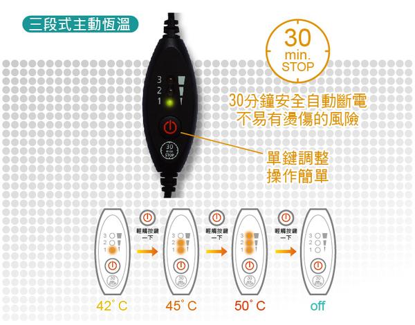【舒美立得】簡便型熱敷護具 驅幹專用 PW140L(舒緩痠痛、腰/臀部、上臂)