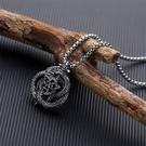 【5折超值價】經典潮流中國風龍紋造型男款鈦鋼項鍊
